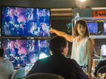 """This image released by Lifetime shows Constance Zimmer in a scene from """"UnREAL,"""" premiering Monday at 10 p.m. EDT on Lifetime. (James Dittiger/Lifetime via AP)"""
