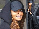 EXCLUSIVE: ** PREMIUM RATES APPLY** Janet Jackson smiles for the camera when she arrives at her new world tour rehearsal studio in LA, CA.\nThe low key singer was wearing a thick one piece sweatsuit with a hoodie and a baseball cap.\n\nPictured: Janet Jackson\nRef: SPL1028516  280515   EXCLUSIVE\nPicture by: Splash News\n\nSplash News and Pictures\nLos Angeles: 310-821-2666\nNew York: 212-619-2666\nLondon: 870-934-2666\nphotodesk@splashnews.com\n