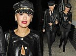 29 May 2015 - LONDON - UK  SINGER RITA ORA ARRIVING AT CHILTERN FIREHOUSE AT 1AM WITH STYLIST KYLE DE'VOLLE IN MATCHING BLACK OUTFITS!  BYLINE MUST READ : XPOSUREPHOTOS.COM  ***UK CLIENTS - PICTURES CONTAINING CHILDREN PLEASE PIXELATE FACE PRIOR TO PUBLICATION ***  **UK CLIENTS MUST CALL PRIOR TO TV OR ONLINE USAGE PLEASE TELEPHONE   44 208 344 2007 **