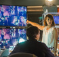 "This image released by Lifetime shows Constance Zimmer in a scene from ""UnREAL,"" premiering Monday at 10 p.m. EDT on Lifetime. (James Dittiger/Lifetime via AP)"
