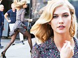 EXCLUSIVE / NO NYC PAPERS / NO MAIL ONLINE¿May 27th 2015: Model Karlie Kloss seen doing a photo shoot for Diane Von Furstenberg in New York City, USA.¿MANDATORY CREDIT Pictures by Dave Spencer\n