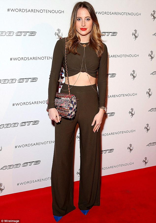Fighting fit: Rosie Fortescue shared an Instagram video of her gruelling workout on Wednesday morning