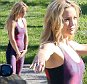 Please contact X17 before any use of these exclusive photos - x17@x17agency.com   Kate Hudson suffers a wardrobe malfunction promoting tight sportswear  during photoshoot in Malibu april 28, 2015 x17online.com
