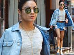 New York, NY - 'Gigi' starlet Vanessa Hudgens was a beauty in blur on Saturday morning as she stepped out of her NYC apartment, rocking a denim jacket, cut off shorts and espadrille wedges. Vanessa accessorized her look with an Hermes belt and black fringe bucket bag as she hopped in a car on the way to work. \nAKM-GSI          May 30, 2015\nTo License These Photos, Please Contact :\nSteve Ginsburg\n(310) 505-8447\n(323) 423-9397\nsteve@akmgsi.com\nsales@akmgsi.com\nor\nMaria Buda\n(917) 242-1505\nmbuda@akmgsi.com\nginsburgspalyinc@gmail.com
