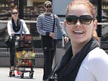 Amy Adams and hubby Darren Le Gallo stop by Pavilions market in West Hollywood. The couple picked up the essentials; eggs, booze, and baby wipes. May 29, 2015 X17online.com