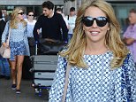 """30 May 2015. """"The Only Way Is Essex"""" cast seen arriving at Malaga airport this afternoon to film the Marbella series special.  Pictured, Lyida Bright, James Argent Credit: GoffPhotos.com   Ref: KGC-102"""