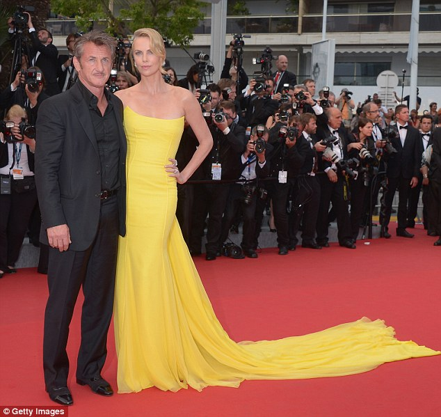 Happy couple: Penn, 54, and Theron, 39, at the Cannes Film Festival premier of Mad Max: Fury Road in May