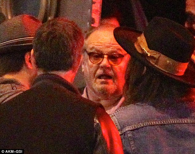 Happy Jack: Jack Nicholson, 78, was also in attendance for the show