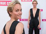 """BEVERLY HILLS, CA - MAY 29:  Actress Amber Valletta attends the Los Angeles premiere of """"The True Cost"""" at Laemmle's Music Hall 3 on May 29, 2015 in Beverly Hills, California.  (Photo by Vincent Sandoval/Getty Images)"""