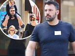 EXCLUSIVE. Coleman-Rayner. Santa Monica, CA, USA.\nMay 29, 2015\nBen Affleck is spotted looking tired and unshaven as he takes goodies to a book fair at his daughter Violet's school. The Suicide Squad actor stepped out wearing a visitor's pass as he smoked a cigarette and finished his coffee. \nCREDIT LINE MUST READ: Coleman-Rayner.\nTel US (001) 310-474-4343- office\nTel US (001) 323-545-7584 - Mobile\nwww.coleman-rayner.com