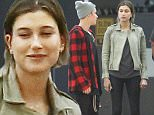 UK CLIENTS MUST CREDIT: AKM-GSI ONLY\nEXCLUSIVE: Justin Bieber and Hailey Baldwin joined friends for a late night dinner at Soho House in West Hollywood, California.  The group of friends appeared to be in good spirits as they joked around with security in the parking garage.\n\nPictured: Justin Bieber and Hailey Baldwin\nRef: SPL1039841  280515   EXCLUSIVE\nPicture by: AKM-GSI / Splash News\n\n