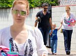Sherman Oaks, CA - After picking up little Aviana from her swim lesson on Saturday, Amy Adams and Darren Le Gallo headed to Macy's for a family shopping trip. The redheaded beauty channeled a 70s vibe and wore a white peasant, flared jeans and wedges, keeping her hair tied up in a messy bun.\nAKM-GSI          May 30, 2015\nTo License These Photos, Please Contact :\nSteve Ginsburg\n(310) 505-8447\n(323) 423-9397\nsteve@akmgsi.com\nsales@akmgsi.com\nor\nMaria Buda\n(917) 242-1505\nmbuda@akmgsi.com\nginsburgspalyinc@gmail.com