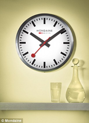 Can you tell the time? Apple's iPad clock app (left) versus Mondaine's iconic clock face