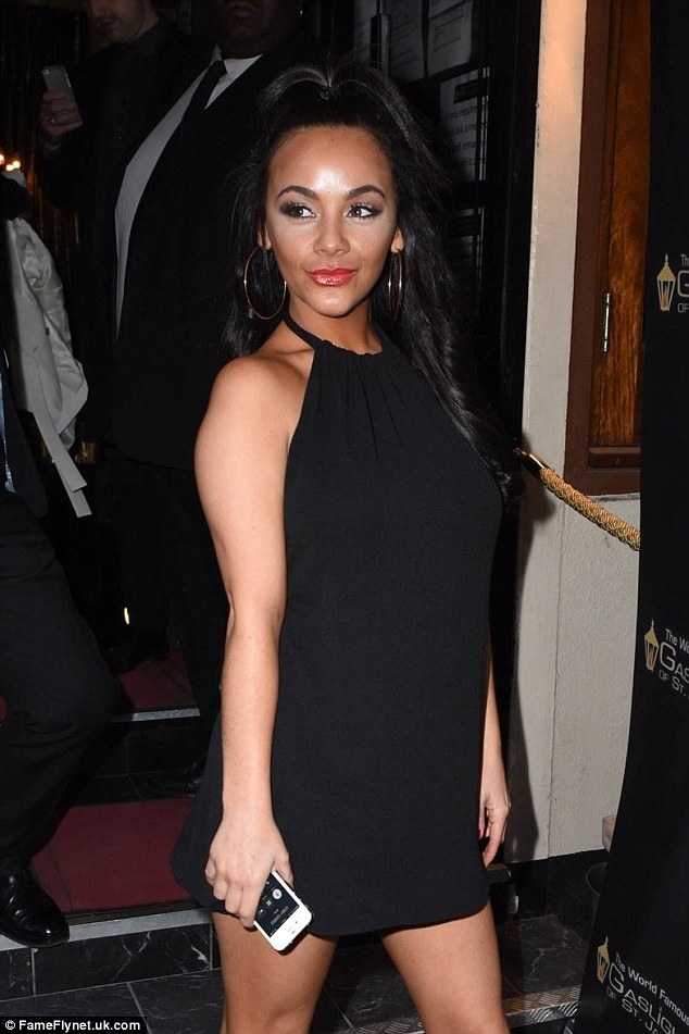 Chelsee was well-dressed by her usual standards - wearing a black, round-beck dress with criss-cross boots