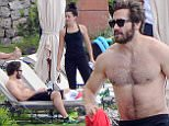 28 MAY 2015 - AMALFI - ITALY * EXCLUSIVE PICTURES AVAILABLE FOR UK USA GERMANY AND AUSTRALIA ONLY * HOLLYWOOD ACTRO JAKE GYLLENHAAL SHOWS OF HIS MUSCULAR BODY WHILE ENJOYING A HOLIDAY WITH GRETA CARUSO IN AMALFI, ITALY. BYLINE MUST READ : XPOSUREPHOTOS.COM ***UK CLIENTS - PICTURES CONTAINING CHILDREN PLEASE PIXELATE FACE PRIOR TO PUBLICATION *** **UK CLIENTS MUST CALL PRIOR TO TV OR ONLINE USAGE PLEASE TELEPHONE 44 208 370 0291**