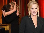 NEW YORK, NY - MAY 31:  (L-R) Comedians Tina Fey and Amy Schumer kiss onstage at The 74th Annual Peabody Awards Ceremony at Cipriani Wall Street on May 31, 2015 in New York City.  (Photo by Ilya S. Savenok/Getty Images for Peabody Awards)