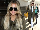 Khloe Kardashian is spotted as she arrives at LAX Airport in Los Angeles, Ca  Pictured: Khloe Kardashian Ref: SPL1041594  310515   Picture by: SkyFall /London Entertainment  Splash News and Pictures Los Angeles: 310-821-2666 New York: 212-619-2666 London: 870-934-2666 photodesk@splashnews.com