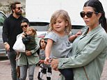 Please contact X17 before any use of these exclusive photos - x17@x17agency.com   Kourtney Kardashian all smiles with Mason, Penelope and Scott playing in Malibu after Kim announced that she's pregnant with her second child and Kourtney couldn't be happier  may 31, 2015 X17online.com