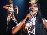 SYDNEY, AUSTRALIA - MAY 31:  Grace Jones performs live as part of VIVID Sydney at Carriageworks on May 31, 2015 in Sydney, Australia.  (Photo by Don Arnold/WireImage)
