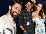 "NEW YORK, NY - MAY 26:  (L-R) Matthew Morrison, Laura Michelle Kelly, Olivia Wilde and Jason Sudeikis pose backstage at the hit musical ""Finding Neverland"" on Broadway at  The Lunt Fontanne Theater on May 26, 2015 in New York City.  (Photo by Bruce Glikas/FilmMagic)"