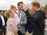 LONDON, ENGLAND - MAY 31:  (L to R) Elsa Pataky, daugther India Rose Hemsworth, Chris Hemsworth and Prince Harry attend day two of the Audi Polo Challenge at Coworth Park on May 31, 2015 in London, England.  (Photo by David M. Benett/Getty Images for Audi)