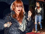 Rihanna arriving at a NYC club in the rain with an umbrella.  Pictured: Rihanna  Ref: SPL1042411  010615   Picture by:  TJDH Imagez / Splash News  Splash News and Pictures Los Angeles: 310-821-2666 New York: 212-619-2666 London: 870-934-2666 photodesk@splashnews.com