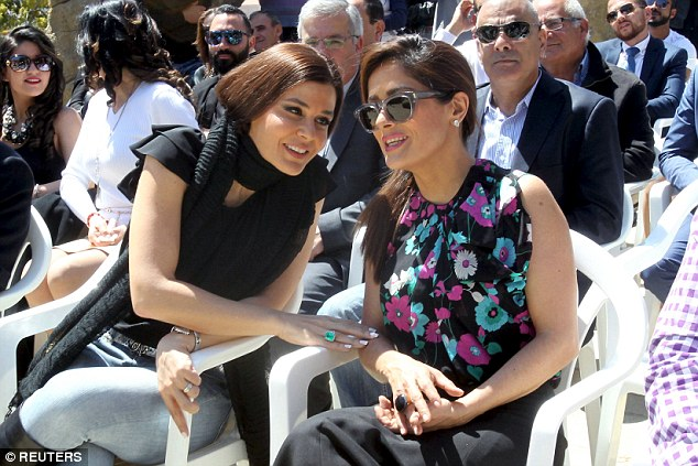 Special welcome: Sethrida stayed close to the actress all day, giving her a warm reception in Lebanon