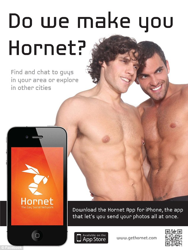 Frisky: Maleski, who had formerly posed half-naked in ads for a gay social networking app called 'Hornet,' was fired from PS 183 on Tuesday