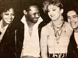 Nile Rodgers, Diana Ross, Jellybean and me wearing a skirt Keith Haring. Painted for me! Doesn't get much better!!?????? All. ??#rebelhearts