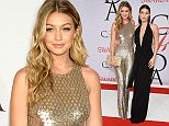 NEW YORK, NY - JUNE 01:  Gigi Hadid (L) and Bella Hadid attend the 2015 CFDA Fashion Awards  at Alice Tully Hall at Lincoln Center on June 1, 2015 in New York City.  (Photo by Dimitrios Kambouris/Getty Images)