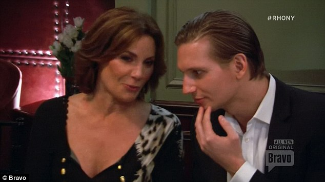 High society:Countess LuAnn de Lesseps also took a younger man to the party