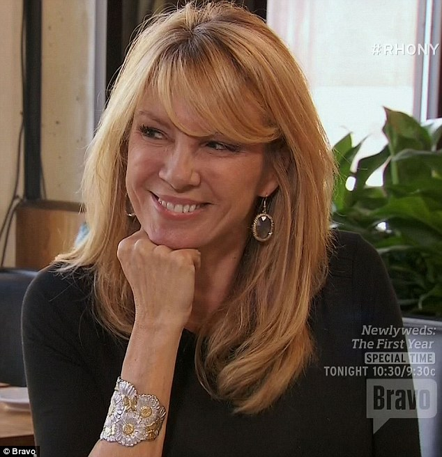 Game on: Ramona openly flirted with her business partner over a lunch meeting