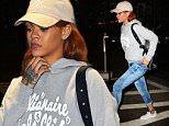 NEW YORK, NY - JUNE 03:  Singer Rihanna is seen arriving at the dentists office in Soho on June 3, 2015 in New York City.  (Photo by Raymond Hall/GC Images)