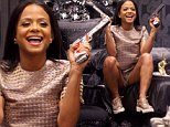 **EXCLUSIVE** Credit: MOVI Inc. Date: June 3rd 2015\\nChristina Milian puts on a bad girl image brandishing two fake guns and a golden middle finger sculpture as she does some evening shopping at a funky furniture store in West Hollywood,Ca. The ever fashion concious star was also sporting an interesting gold outfit complete with matching shoes and backpack.