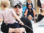 Please contact X17 before any use of these exclusive photos - x17@x17agency.com   Ben Affleck and his mom Christine take a stroll with Samuel in Santa Monica before grabbing a bite to eat at Beaming Cafe. June 3, 2015 X17online.com EXCLUSIVE