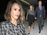 Jessica Alba and husband Cash Warren dine out at Craig's restaurant, in West Hollywood, CA  Pictured: Jessica Alba , Cash Warren Ref: SPL1042911  020615   Picture by: Roshan Perera  Splash News and Pictures Los Angeles: 310-821-2666 New York: 212-619-2666 London: 870-934-2666 photodesk@splashnews.com