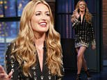 LATE NIGHT WITH SETH MEYERS -- Episode 215 -- Pictured: Cat Deeley, host of So You Think You Can Dance, arrives on June 4, 2015 -- (Photo by: Lloyd Bishop/NBC/NBCU Photo Bank via Getty Images)