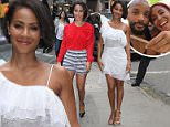 Actress Jada Pinkett Smith wearing black and white shorts and a red blouse is spotted leaving 'Good Morning America' in NYC's Times Square.\n\nPictured: Jada Pinkett Smith\nRef: SPL1045261  040615  \nPicture by: Fortunata / Splash News\n\nSplash News and Pictures\nLos Angeles: 310-821-2666\nNew York: 212-619-2666\nLondon: 870-934-2666\nphotodesk@splashnews.com\n