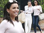 Picture Shows: Eva Longoria  June 04, 2015\n \n Former 'Desperate Housewives' actress Eva Longoria meets some friends for sushi in Studio City, California. Eva recently returned from Paris, France where she attended the Global Gift Gala. \n \n Exclusive All Rounder\n UK RIGHTS ONLY\n \n Pictures by : FameFlynet UK © 2015\n Tel : +44 (0)20 3551 5049\n Email : info@fameflynet.uk.com