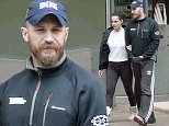 LONDON, ENGLAND - JUNE 02:  (EXCLUSIVE CONTENT) Charlotte Riley and Tom Hardy are seen taking a stroll in London on June 2, 2015 in London, England.  (Photo by Ada/GC Images)