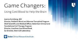 Game Changers: Using Cord Blood to Help the Brain