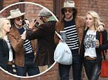 Aaron Taylor Johnson and his wife Sam Taylor Wood stop for a portrait by street photographer today in Soho, NYC\n\nPictured: Aaron Taylor Johnson, Sam Taylor Wood\nRef: SPL1044300  040615  \nPicture by: Abbot-Turgeon / Splash News\n\nSplash News and Pictures\nLos Angeles: 310-821-2666\nNew York: 212-619-2666\nLondon: 870-934-2666\nphotodesk@splashnews.com\n