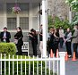 Family and friends attend the wake of Katherine Chappell on Friday, June 5, 2015 at Graham Funeral Home in Rye, New York. Katherine Kate Chappell was killed in South Africa by a lion at a wildlife preserve June 1, 2015.
