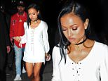 Chris Brown and Karueche Tran reunite at Club Playhouse in Hollywood, CA on June 5, 2015.  Pictured: Chris Brown and Karrueche Tran Ref: SPL1045965  050615   Picture by: DutchLabUSA / Splash News  Splash News and Pictures Los Angeles: 310-821-2666 New York: 212-619-2666 London: 870-934-2666 photodesk@splashnews.com