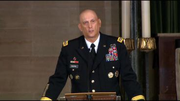 Army Chief Of Staff, General Raymond Odierno, Delivers Eulogy At Beau Biden's Funeral