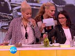 Molly Simms sips water that raven Simone has spat out on The View. Fridayt 5th June