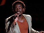 """THE VOICE -- """"Blind Auditions"""" Episode 802 -- Pictured: Anthony Riley -- (Photo by: Tyler Golden/NBC/NBCU Photo Bank via Getty Images)"""