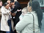 EXCLUSIVE ***MINIMUM FEE APPLIES OF £500 PER PAPER*** Martine McCutcheon husband Jack Mcmanus show off their three month old baby Rafferty to girlfriends whilst shopping in west london.\n1 June 2015.\nPlease byline: Vantagenews.co.uk\nUK clients should be aware children's faces may need pixelating.