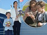 Mandatory Credit: Photo by Tim Rooke/REX Shutterstock (4826483w).. Crown Princess Mary and Princess Isabella christening the Prinsesse Isabella Saelvig ferry.. .. Princess Isabella first official engagements, Samsoe, Denmark - 06 Jun 2015.. ..