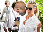 West Hollywood, CA - Ali Larter, who welcomed her second child, a baby daughter, with her husband Hayes MacArthur, in January, steps out for some retail therapy with little Vivienne in West Hollywood this afternoon.\nAKM-GSI   June 5, 2015\nTo License These Photos, Please Contact :\nSteve Ginsburg\n(310) 505-8447\n(323) 423-9397\nsteve@akmgsi.com\nsales@akmgsi.com\nor\nMaria Buda\n(917) 242-1505\nmbuda@akmgsi.com\nginsburgspalyinc@gmail.com